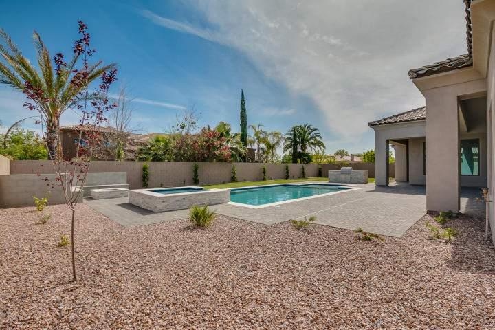 Pool and backyard