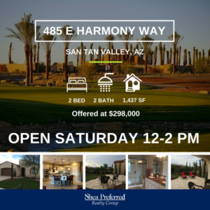 Open House | 485 E Harmony Way | San Tan Valley, AZ