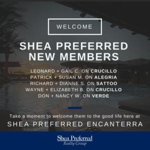 Welcome Shea Preferred New Members