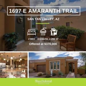 Featured Listing | 1697 E Amaranth Trail | Encanterra, San Tan Valley, AZ 85140