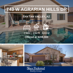 SP Featured Listing | 743 W Agrarian Hills DR, San Tan Valley