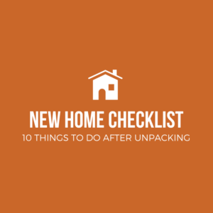 New Home Checklist